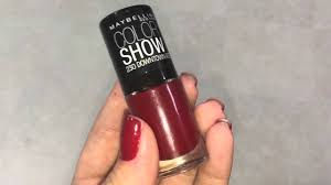 maybelline color show downtown red youtube