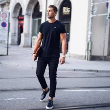 all black casual 45 sharp ways to style black khaki embracing modern trends