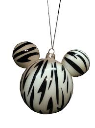 ornament mickey mouse ears zebra print