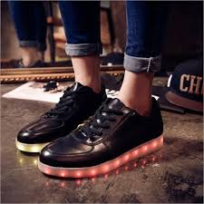 grown up light up shoes women s light up trainers low top black for grown ups