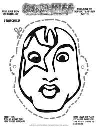 free printable scooby doo u0026 kiss starchild mask craft printable