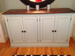kitchen sideboard ideas white sideboard buffet cabinet diy wood top country pretty doors