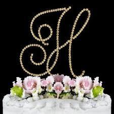 h cake topper renaissance monogram cake topper gold large letter h