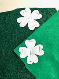 simple felt shamrock hair clip template u2022 the inspired home