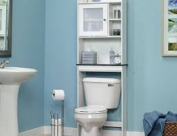 creative bathroom storage ideas recessed shelf stained wood