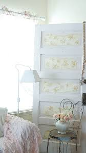 diy vintage shabby wallpaper door white lace cottage