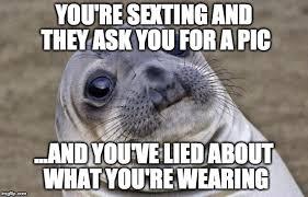 Memes About Sexting - awkward moment sealion meme imgflip