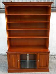 Cherry Wood Bookcase With Doors Cherry Wood Bookcase Cabinet Cd Storage Unit By Castleton Yorke Sold