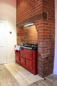 brick enclosure for aga rayburn wood cooker kitchen ideas