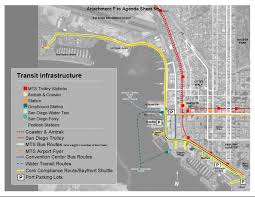 San Diego Airport Map Bayfront Shuttle Coming To San Diego Bay This Summer