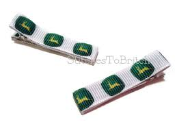 deere ribbon deere ribbon lined hair clippies set of 2 boutique hair