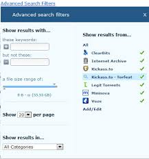 vuze for android vuze meta search adding search gizmo s freeware