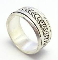 worry ring vintage handmade solid 925 sterling silver bali spinner wish worry