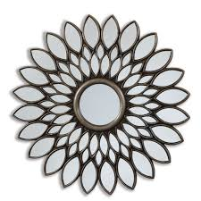 The Range Bathroom Mirrors by Selections By Chaumont 40 Inch Bronze Sunflower Decorative Mirror