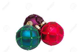 trendy purple and blue tree ornaments stock photo