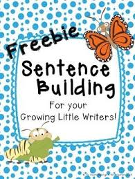 free sentence building activities for the five stages of a