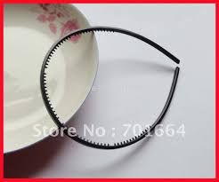bando headbands 20pcs 4mm black plain plastic hair headbands with small teeth for