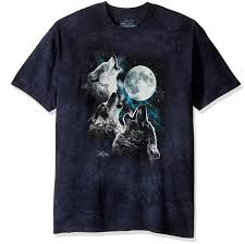 amazon com the mountain three wolf moon short sleeve tee clothing