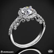 verragio wedding rings verragio half eternity halo engagement ring 1877
