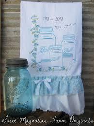 flour sack kitchen towel farmhouse style cottage chic shabby