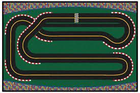 Checkerboard Area Rug Kids Value Rugs Green Super Speedway Racetrack Area Rug Wayfair