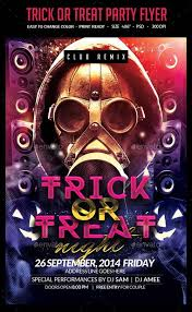 flyer templates graphicriver trick or treat halloween flyer
