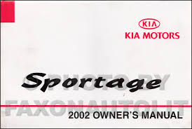 2002 kia sportage repair shop manual original