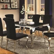 coaster carone contemporary rectangular dining table coaster