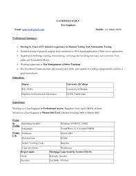 Sample Resume For Experienced Testing Professional by Industrial Automation Engineer Resume Sample