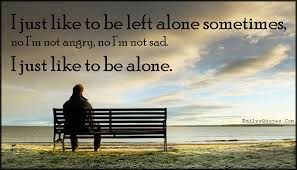 i just like to be left alone sometimes no i m not angry no i m
