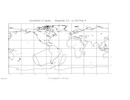 Black And White Map Of Central America by Four Occultations In September 2012 Sky U0026 Telescope