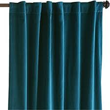 Velvet Home Theater Curtains Amazon Com Teal Velvet Curtains 50 In W By 120 In H Blackout
