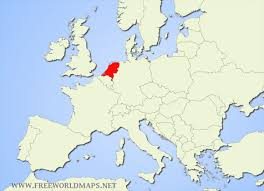 netherlands location in europe map where is located on the world map