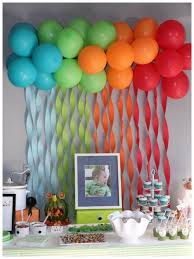 background decoration for birthday party at home birthday party wall decoration ideas rainbow balloon and crepes