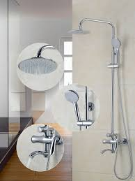 brand shower set bathroom rain tub shower faucets bath 8 inch
