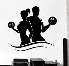 aliexpress com buy f8 aiwall wall sticker home decor fitness aliexpress com buy f8 aiwall wall sticker home decor fitness bodybuilding dumbell barbell gym vinyl decal wall art mural paper from reliable stickers home