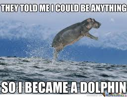 Hippo Memes - best swimming hippo by vespoochie meme center