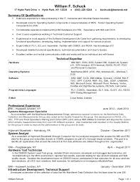 Resume Sample For Programmer by Bill Schuck Mainframe Programmer 2013 Resume