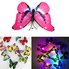 flashing night light bulbs 1pcs lovely butterfly led night light color changing light l