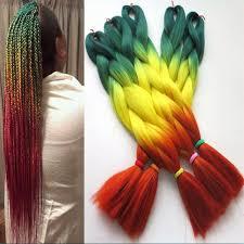 ombre kanekalon braiding hair 24 green yellow orange ombre kanekalon braiding hair stylish n