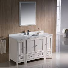 fresca oxford 54 inch antique white traditional bathroom vanity