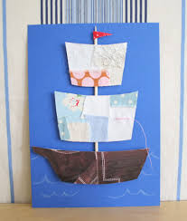 how to make a fabric scraps ship s day card make