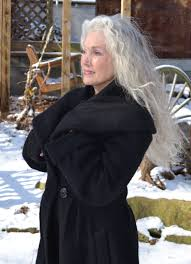 all brave women over 60 let your hair grow white and long put