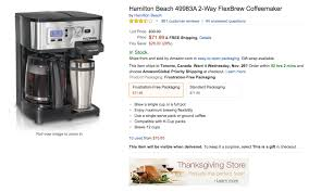 rubbermaid black friday sale home hamilton beach k cup coffee maker 72 reg 100