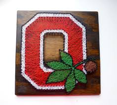 Osu Umbrellas by Ohio State Buckeyes String Art Ohio State University Sign