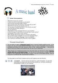 a band project student u0027s worksheet by pilar gonzález issuu