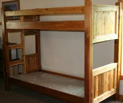 Barnwood Style Bunk Bed From Reclaimed Cedar  Barn Wood Furniture - Rustic wood bunk beds