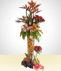 fruit flower arrangements send flowers to bolivia fruit basket