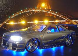 nissan tuner cars 1 24 led tuning car nissan skyline gt r r34 jada modellbau ddr 144