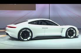 new porsche electric porsche mission e electric saloon revealed at frankfurt autocar